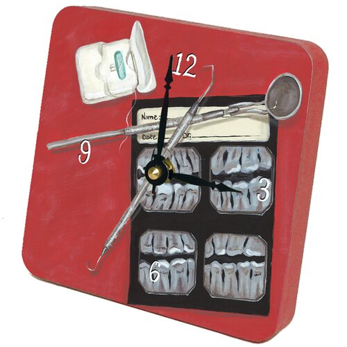 Home and Garden Dental Details Tiny Times Clock