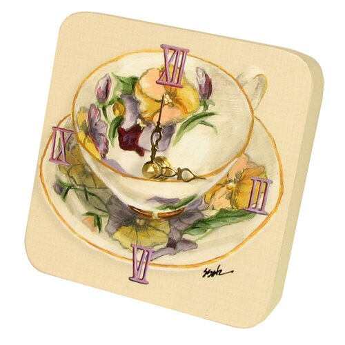 Home and Garden Tea Cups Tiny Times Clock