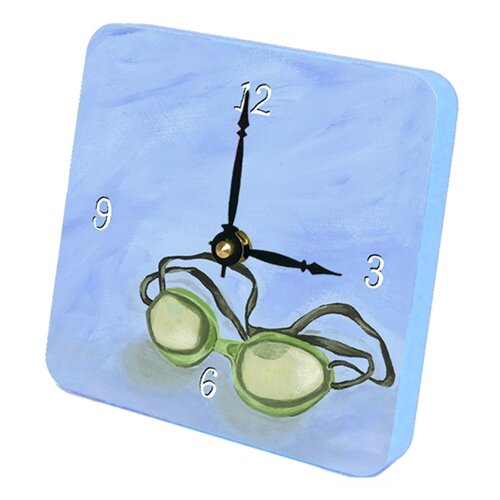 Swim Goggles Tiny Times Desk Clock