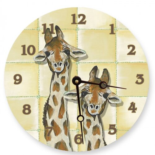 "Lexington Studios 10"" Giraffe Wall Clock"