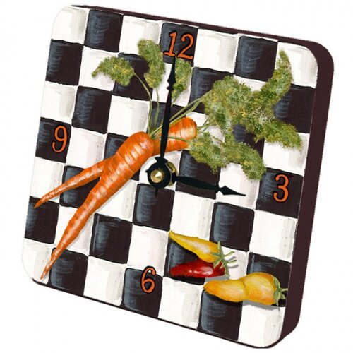 Lexington Studios Carrots Checker Tiny Times Clock