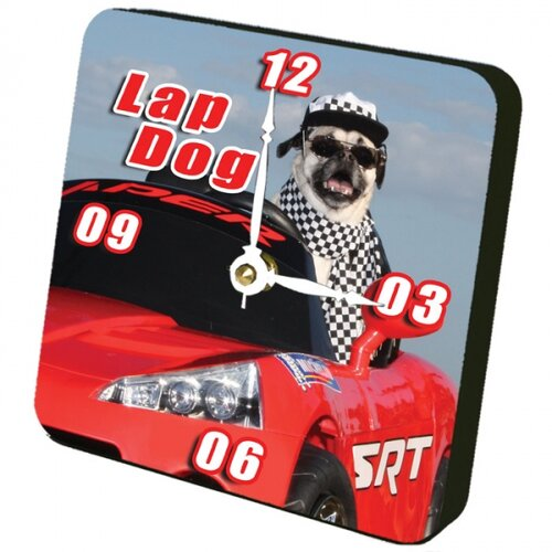 Lexington Studios Lap Dog Tiny Times Clock