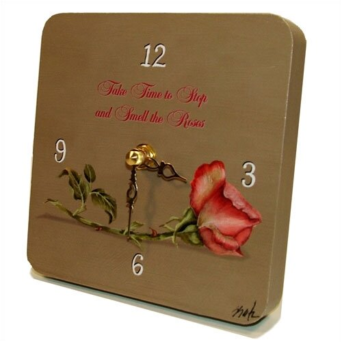 Home and Garden The Rose Tiny Times Clock