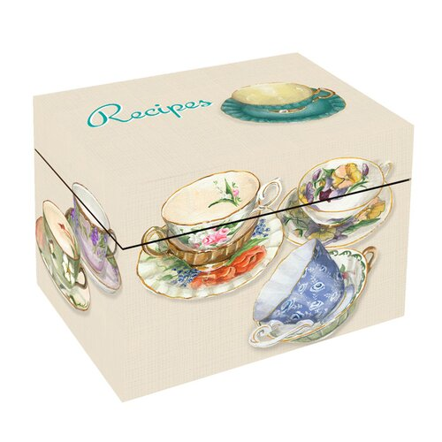 Lexington Studios Tea Cups Recipe Box