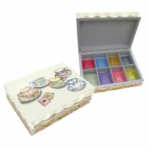 Lexington Studios Large English Tea Cups Hinge Box