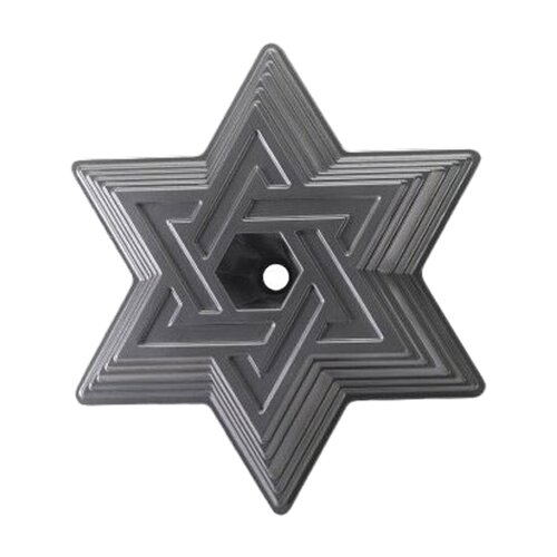 Platinum Star of David Bundt