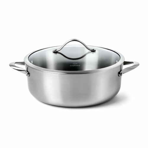 Contemporary Stainless Steel 8-qt. Aluminum Round Dutch Oven