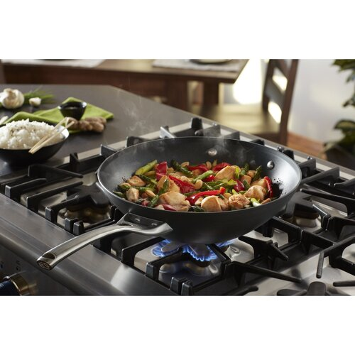 "Calphalon Contemporary Nonstick 12"" Flat Bottom Wok"