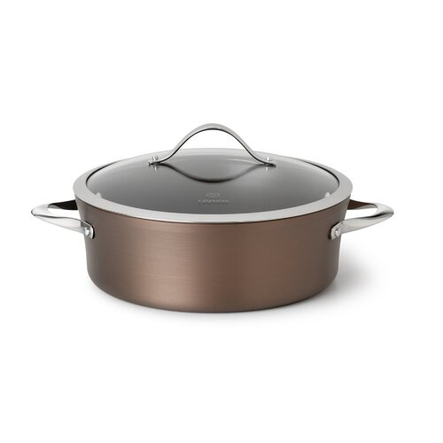 Contemporary Nonstick Bronze 5-qt. Round Dutch Oven