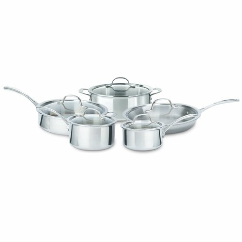 Tri-Ply Stainless Steel 10-Piece Cookware Set