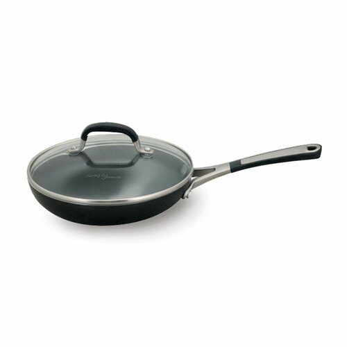 Simply Calphalon® Black Enamel Nonstick Fry Pan with Lid