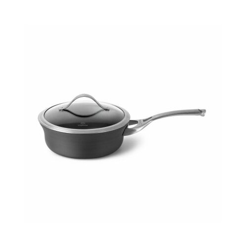 Contemporary Nonstick 2.5-qt. Shallow Saucepan with Lid