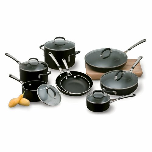 Calphalon Simply Enamel 14-Piece Cookware Set