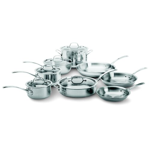 Calphalon Try-Ply Stainless Steel 13-Piece Cookware Set