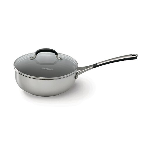 Calphalon Simply Stainless II 2-qt. Stainless Steel Chef's Pan with Lid