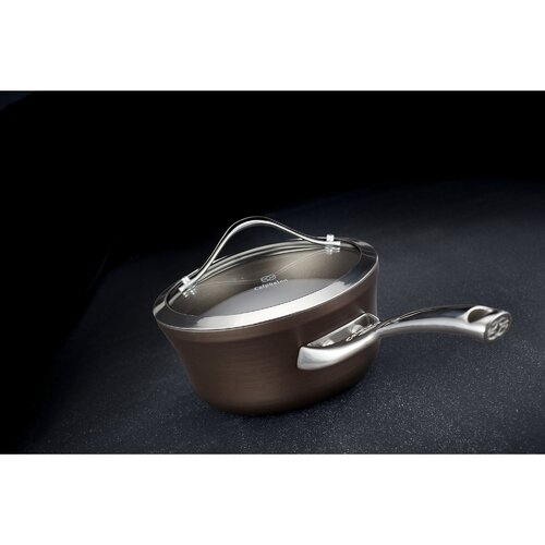 Contemporary Nonstick Saucepan with Lid