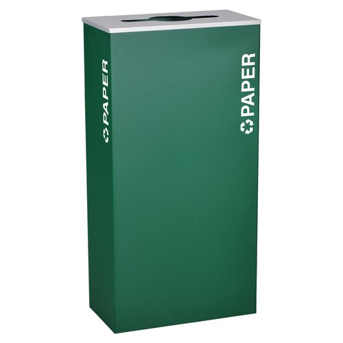Ex-Cell Kaleidoscope XL Series Indoor 17 Gallon Industrial Recycling Bin