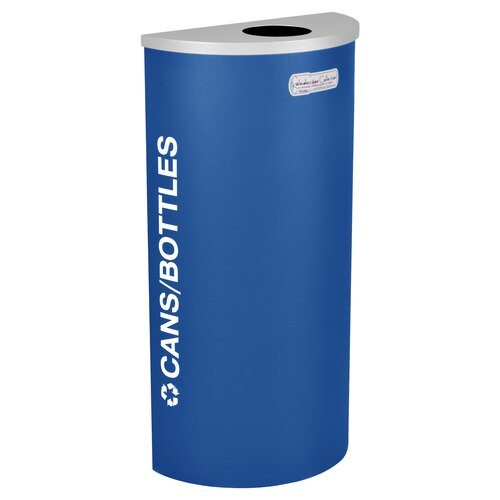 Ex-Cell Kaleidoscope XL Series Indoor 8 Gallon Industrial Recycling Bin