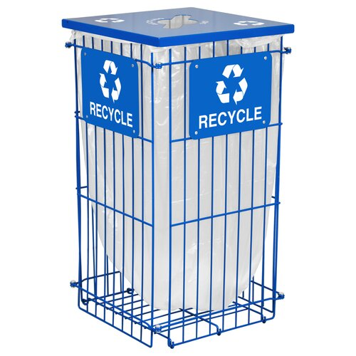 Ex-Cell Clean Grid Outdoor 45 Gallon Industrial Recycling Bin