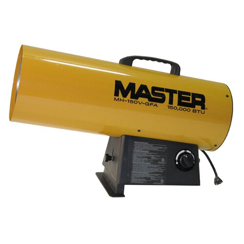 Master 150,000 BTU Forced Air Utility Propane Space Heater with Variable Control