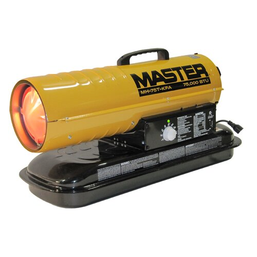 Master 75,000 BTU Forced Air Utility Kerosene Space Heater with Thermostat