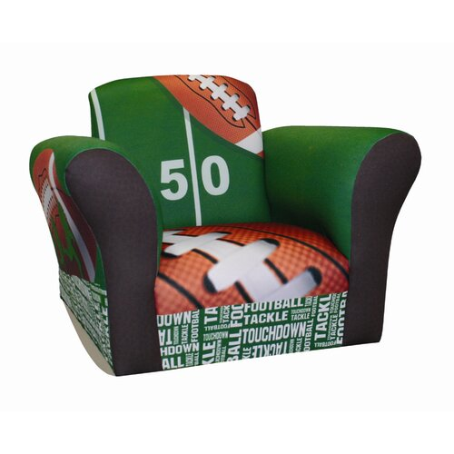 Komfy Kings Football 50 yard Line Standard Kid's  Rocking Chair