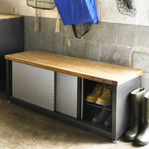 Storage Bamboo Top Workbench Wayfair