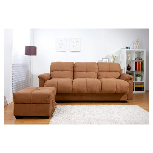 Phila Storage Convertible Sofa and Ottoman