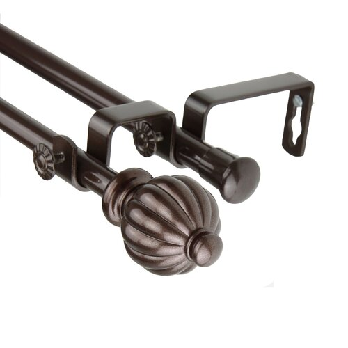Rod Desyne Metal Double Curtain Rod and Hardware Set