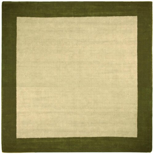 St. Croix Earth First Green Jute Border Rug