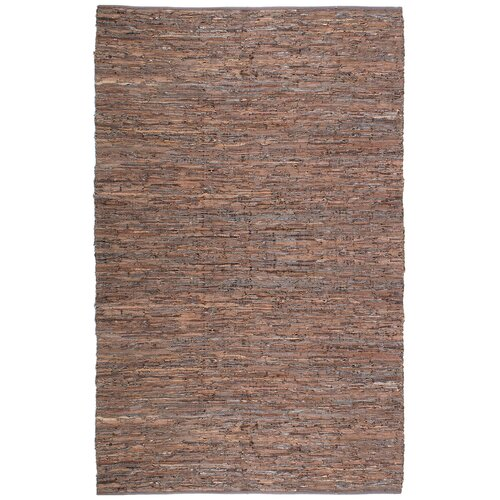 Matador Leather Chindi Brown Rug