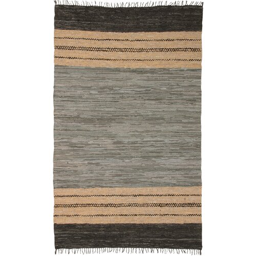 St. Croix Matador Leather Chindi Gray/Brown Rug