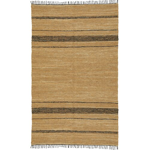 St. Croix Matador Leather Chindi Black/Tan Rug