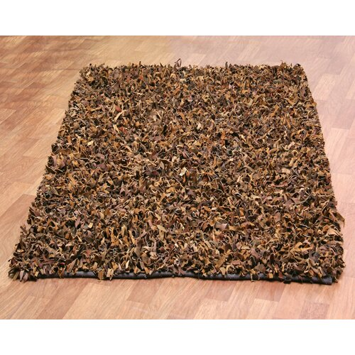 St. Croix Pelle Leather Brown Rug
