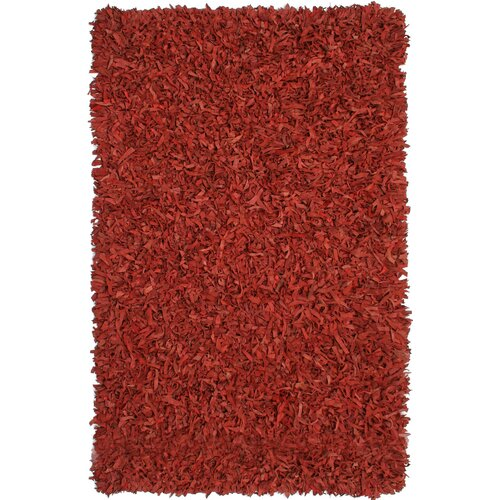 St. Croix Pelle Leather Red Rug