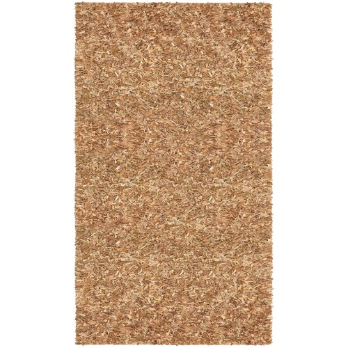 St. Croix Pelle Leather Tan Rug