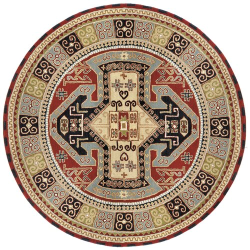 St. Croix Traditions Sparta Navy/Red Rug