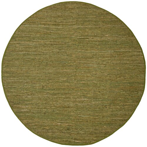 St. Croix Matador Green Leather Chindi Rug