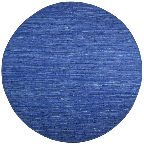 St. Croix Matador Blue Leather Chindi Rug