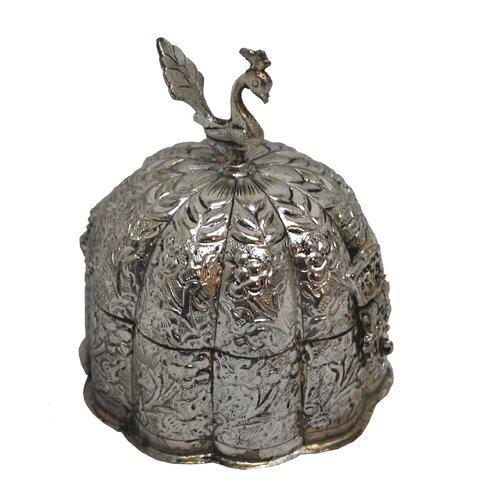 Peacock Scalloped Box