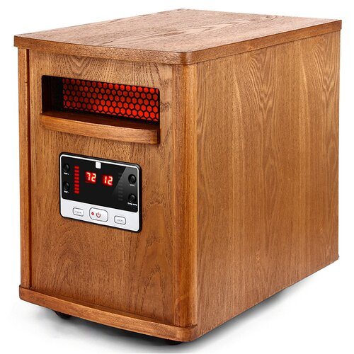 1500 Watt Infrared Cabinet Space Heater with Remote Control