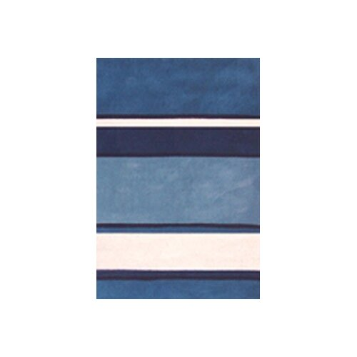 American Home Rug Co. Beach Rug Blue/White Ocean Stripes Rug