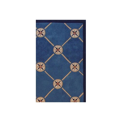 American Home Rug Co. Beach Rug Dark Blue Compass Novelty Rug