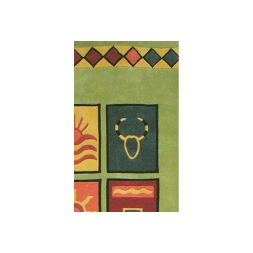 American Home Rug Co. Bright Rug Lime Sizzle Novelty Rug