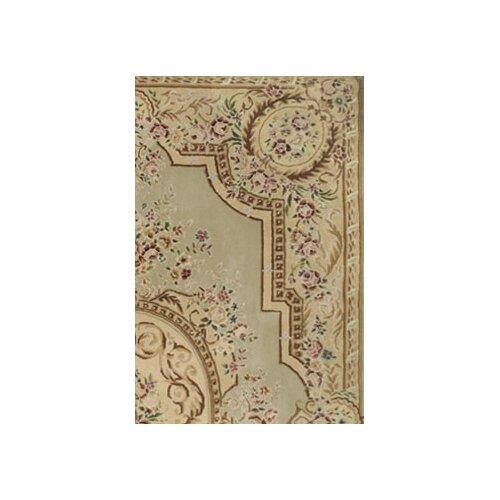 American Home Rug Co. French Elegance Venetian Green/Beige Aubusson Rug