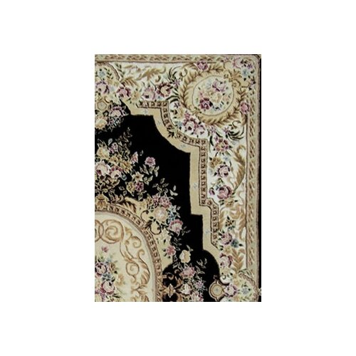 American Home Rug Co. French Elegance Black/Ivory Aubusson Rug