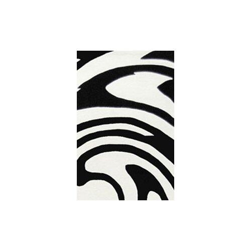 American Home Rug Co. Modern Living Jazzy White/Black Rug