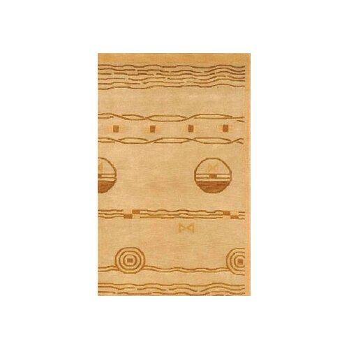 American Home Rug Co. Neo Nepal Gold/Brown Ocean Vibes Rug