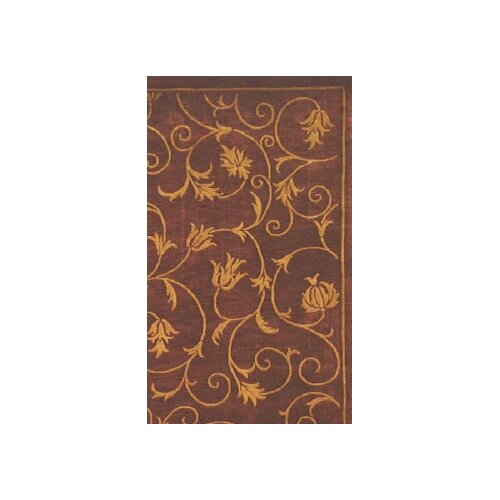 American Home Rug Co. Neo Nepal Wine French Scrolls Rug