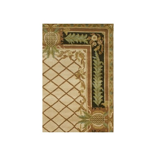 American Home Rug Co. Palm Beach Beige Pineapple Aubusson Area Rug